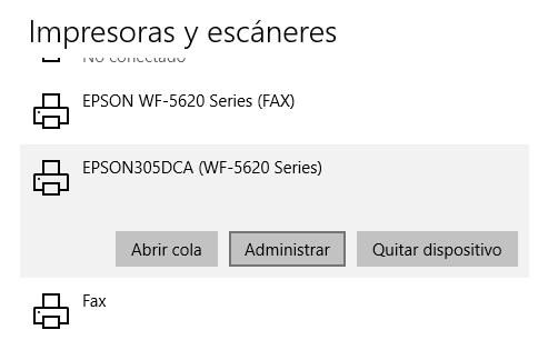 Conectar con impresora WiFi5
